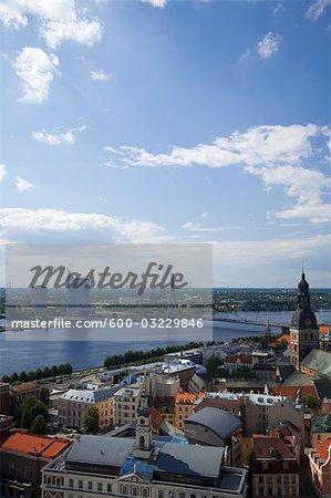 Pont Vansu, rivière Daugava, Riga, Riga District, Lettonie
