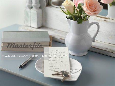 To Do List on Dresser