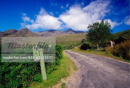 Black Valley, Parc National de Killarney, comté de Kerry, Irlande ; Route de boîte aux lettres et pays