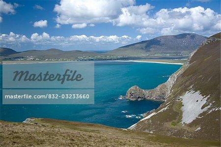 L'île d'Achill, comté Mayo, Irlande ; Les falaises de Menawn