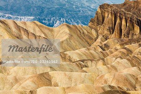 Zabriskie Point, Badlands, Death Valley National Park, Californie, USA