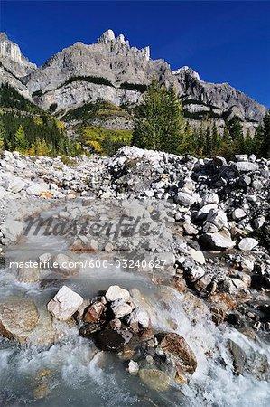 Ruisseau de montagne, le Parc National Banff, Alberta, Canada