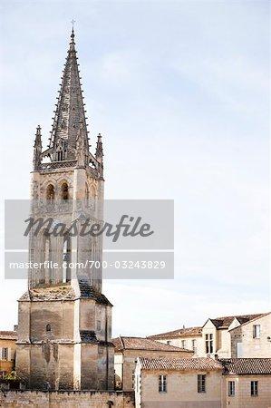 Monolithic Church, Saint Emilion, Gironde, Aquitaine, France