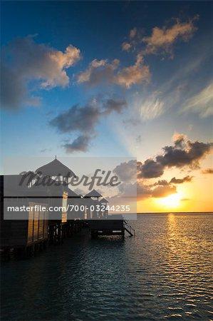 Sunrise at Soneva Gili Resort, Lankanfushi Island, North Male Atoll, Maldives