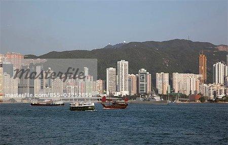 Ligne d'horizon de Kowloon, Hong Kong Causeway Bay