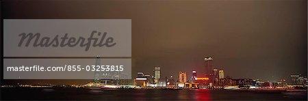 Skyline de Tsimshatsui, Hong Kong la nuit
