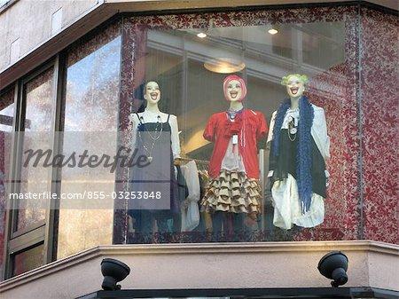 Afficher la fenêtre d'une boutique, Harajuku, Tokyo, Japon
