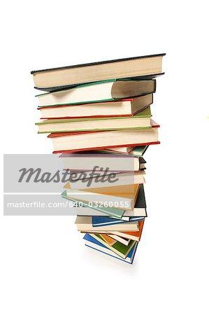 Stapel von Büchern Luftbild