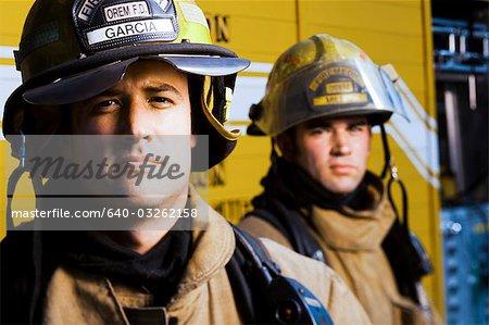 Portrait of firefighters