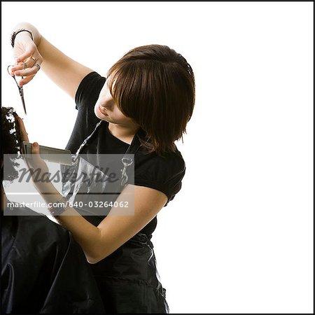 Cheveux Coupe de coiffure féminine