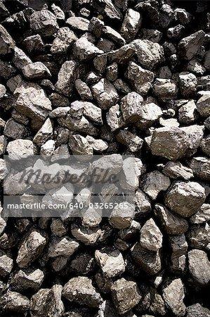 Close-up of coal rocks