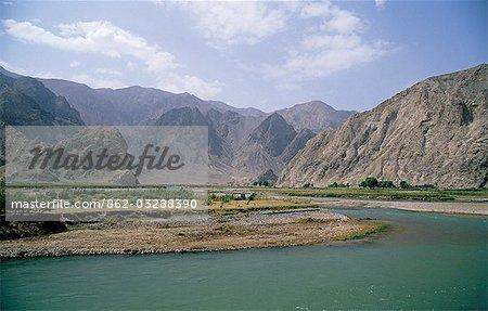 Afganistan, Dosti-Tal. Landschaft in der Nähe von Bamiyan, Afghanistan zentrale. Fotografiert im August 2000.