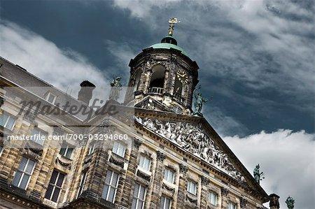 Palais Royal, place du Dam, Amsterdam, Pays-Bas