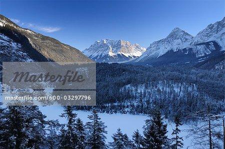 Zugspitze Mountain Viewed from Tyrol, Austria