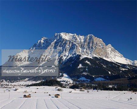 View of Zugspitze, Ehrwald, Tyrol, Austria