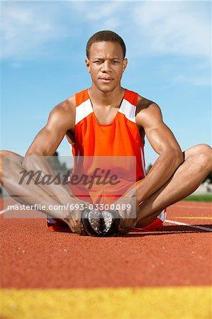 Track Athlete Warming Up
