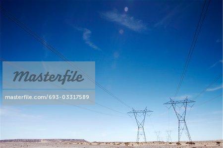 Electricty pylons, USA