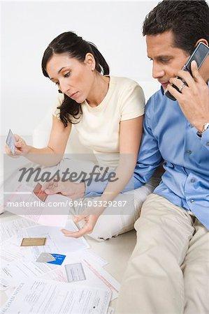 Cartes de crédit couple Holding