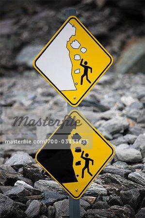 Warning Signs, Franz Josef Glacier, South Island, New Zealand