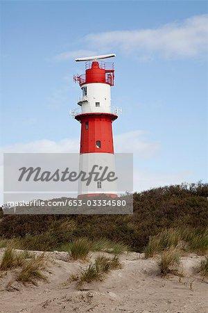 A lighthouse, Borkum, East Frisia, East Frisian Islands, Lower Saxony, Germany