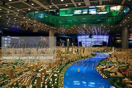 China,Shanghai. Model of Shanghai in the Shanghai Urban Planning Centre.