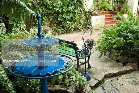 Cuba, la Havane. La Cocina de Lilliam. Restaurant résidentiel dans le quartier ouest de Miramar, la Havane, Cuba