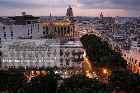 Cuba, la Havane. Vue d'ensemble de la ville, la Havane
