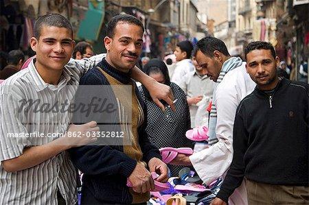 Characters in the market on Sharia El Muski near Khan el-Khalili,Cairo,Egypt