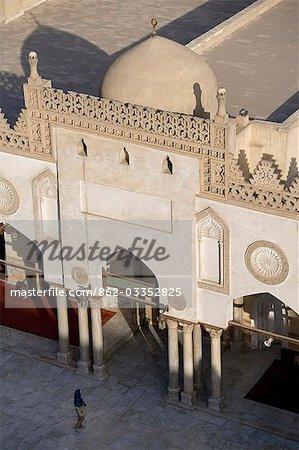 A woman enters the Al-Azhar Mosque in Islamic Cairo,Egypt