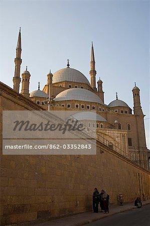 La mosquée de style Ottoman de Mohammed Ali dans la Citadelle, qui donne sur le Caire islamique