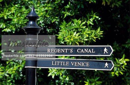 Straßenschild an Klein-Venedig