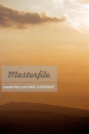 Coucher de soleil sur les landes de Dartmoor