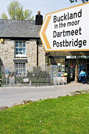 Panneaux de marécage Widecombe-dans-le-Moor, Dartmoor