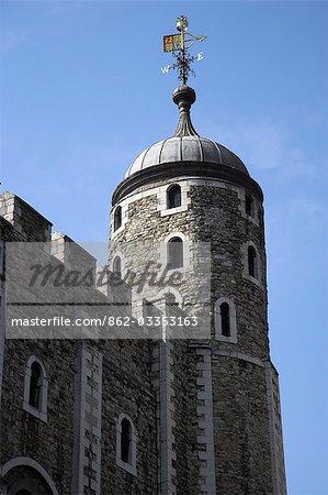 Détail de l'extérieur de la tour de Londres.