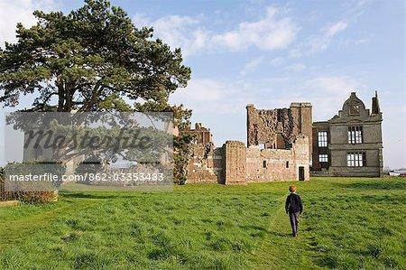 Angleterre, Shropshire, Moreton Corbet. Château de Moreton Corbet. .