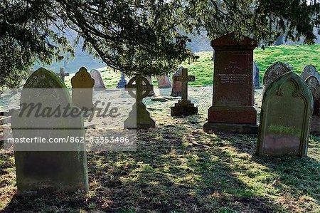 England,Shropshire,Hodnet. The cemetery at St Lukes Church.