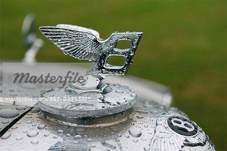 Motif et le logo de voiture Bentley