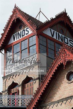 The distinctive tower of Vina Tondonia winery