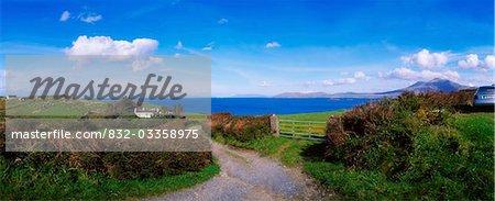 Route de campagne à Renvyle, Co Galway, Irlande