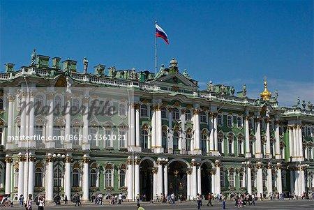 Russland, St. Petersburg. Haupteingang der Eremitage Saint oder Winterpalais.