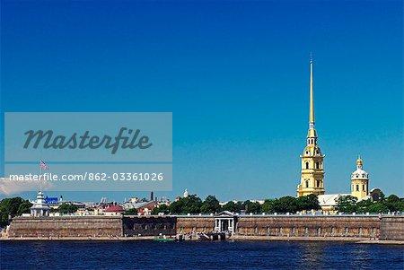 Russland, St. Petersburg. Die Peter- und Paul-Festung.
