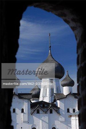 Russland, Weißes Meer, Solowezki-Inseln. Dach der Kathedrale Transfiguration Retter.