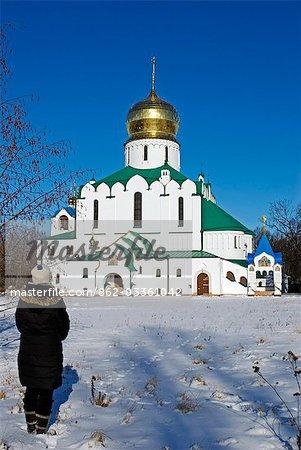 Russland, St. Petersburg, Zarskoje Selo (Puschkin). FВ±dorowski Kathedrale. Dies war die Lieblings Kirche von Zar Nicholas II und seine Familie, während im Alexander Palace und vor ihrem Transport nach Sibirien.