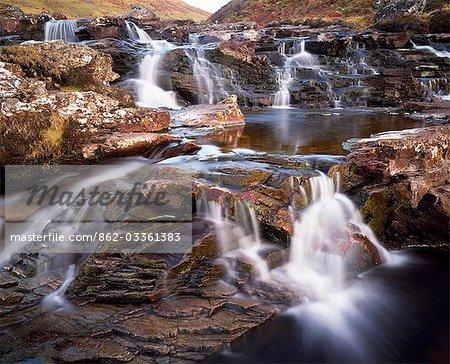 Water falls on Alt Bail A'Mhuillinn,Glen Lyon