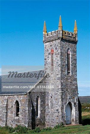L'église de Arinagour, le seul village de Coll et abrite la moitié des habitants de l'île d'à peu près 180