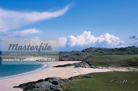 Parmi les nombreux belles plages de sable blanc sur la côte ouest de Coll