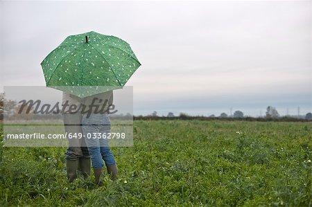 couple sous égide de champ