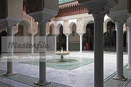 Intérieur de la célèbre hôtel de la Mamounia à Marrakech.
