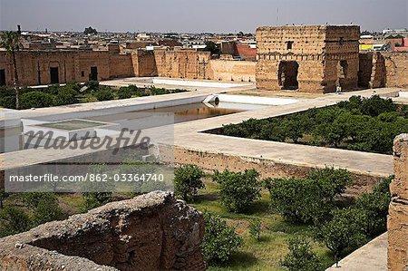 Le Palais El Baldi, construit par Ahmed al-Mansour entre 1578 et 1602, avait la réputation d'être l'un des plus beaux palais du monde à l'époque.