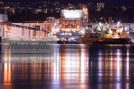 Ocean Liner, Vancouver Wharves, Vancouver, British Columbia, Canada